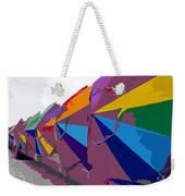 Beach Umbrella Row Weekender Tote Bag