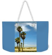 Beach View With Palms And Birds Weekender Tote Bag