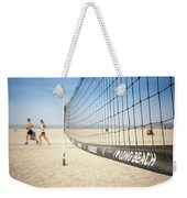 Beach Volleyball Net On The Sand At Long Beach, Ca Weekender Tote Bag