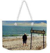 Beach Walking Weekender Tote Bag