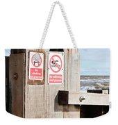 Beach Warning Weekender Tote Bag