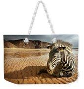 Beach Zebra Weekender Tote Bag