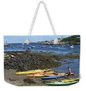Beached Kayaks At Rockport Harbor Weekender Tote Bag