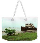 Beached Ship Weekender Tote Bag
