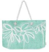 Beachglass And White Flowers 3- Art By Linda Woods Weekender Tote Bag
