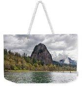 Beacon Rock At Columbia River Gorge Weekender Tote Bag