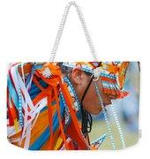 Beaded Pow Wow Dancer Weekender Tote Bag