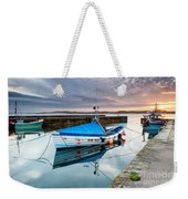 Beadnell Harbour Sunset Weekender Tote Bag