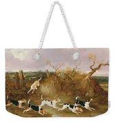 Beagles In Full Cry Weekender Tote Bag