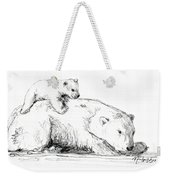 Bear And Cub Weekender Tote Bag
