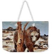Bear And Stump Weekender Tote Bag