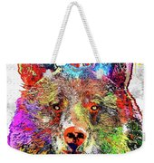Bear Colored Grunge Weekender Tote Bag