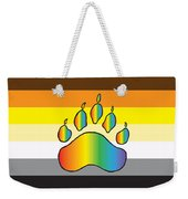 Bear Colors With Rainbow Paw Weekender Tote Bag