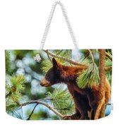 Bear Cub In A Tree 3 Weekender Tote Bag