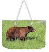 Bear Eating Daisies Weekender Tote Bag