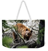 Bear In Trees Weekender Tote Bag