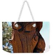 Bear In Wood Weekender Tote Bag