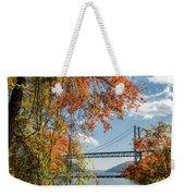 Bear Mountain Bridge Fall Color Weekender Tote Bag