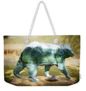 Bear On The Little Tennessee River Weekender Tote Bag