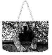 Bear On The Wall Weekender Tote Bag
