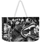Bearded Dragon Ride Black And White Weekender Tote Bag