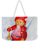 Bearded Elf On Skis Weekender Tote Bag