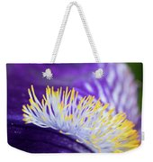Bearded Iris Macro Weekender Tote Bag