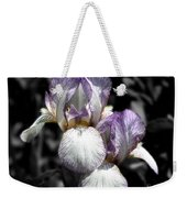 Bearded Irises Partial Color Weekender Tote Bag