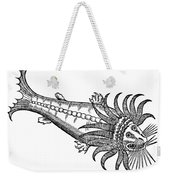 Bearded Whale Weekender Tote Bag