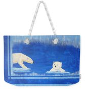 Bears In Global Warming Weekender Tote Bag