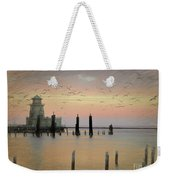 Beau Rivage Lighthouse And Marina Weekender Tote Bag