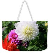 Beautiful And Fresh Dahlias In The Butchrt  Gardens,vancouver Island 1. Weekender Tote Bag
