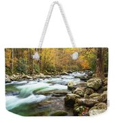 Beautiful Autumn Colors Little Pigeon River Smoky Mountains Weekender Tote Bag