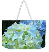 Beautiful Blue Hydrangea Floral Art Prints Creamy White Pastel Weekender Tote Bag