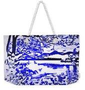 Beautiful Blue Pop Art Scene Weekender Tote Bag