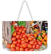 The Bountiful Harvest At The Farmer's Market Weekender Tote Bag