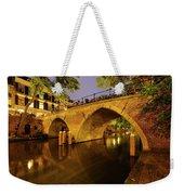 Beautiful Bridge Weesbrug Over The Old Canal In Utrecht At Dusk 220 Weekender Tote Bag