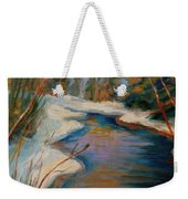 Beautiful Brook In Winter Weekender Tote Bag