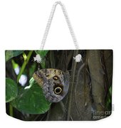 Beautiful Brown Morpho Butterfly In A Lush Garden  Weekender Tote Bag