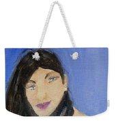 Beautiful Brunette Weekender Tote Bag