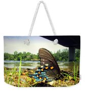 Beautiful Butterfly At The River II Weekender Tote Bag