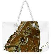 Beautiful Butterfly Wings Of Meadow Brown Isolated Weekender Tote Bag