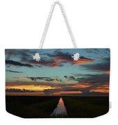 Beautiful Canal Sunset In Florida Weekender Tote Bag