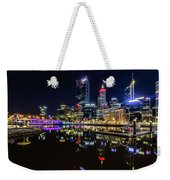 Beautiful Cityscape At Perth's Elizabeth Quay  Weekender Tote Bag