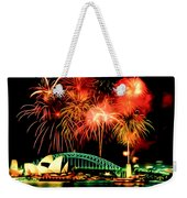 Beautiful Colorful Holiday Fireworks 2 Weekender Tote Bag