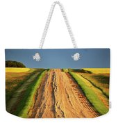 Beautiful Colors Along A Saskatchewan Country Road Weekender Tote Bag