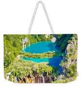 Beautiful Falling Lakes Of Plitvice National Park Weekender Tote Bag