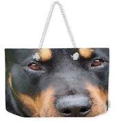 Beautiful Female Rottweiler Portrait Vector Weekender Tote Bag