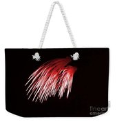 Beautiful Fire Works With Splash Of Red Color.  Weekender Tote Bag