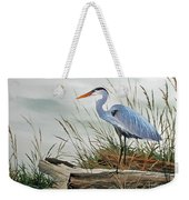 Beautiful Heron Shore Weekender Tote Bag